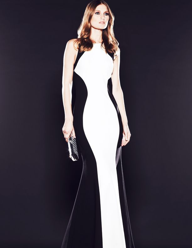 @MignonFashions Two Tone Sleeveless Gown