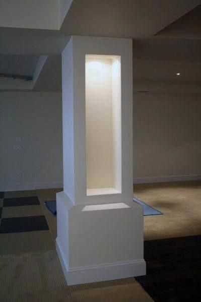 Top 50 Best Basement Pole Ideas - Downstairs Column Cover Designs #basementbar #basementideas    Some houses have basements, and sometimes it is difficult for landlords to decide what to do with the venue. In reality, the person can do many things in the basement. It could be a bedroom, storage Room, Playground, Entertainment Area and much more. You can also have a family room as an extension of your living room... #Basement #basementbar #Column #Cover #Designs #Downstairs #Ideas #Pole #Top