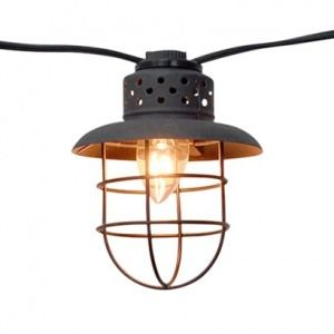 Vintage look outdoor string lights