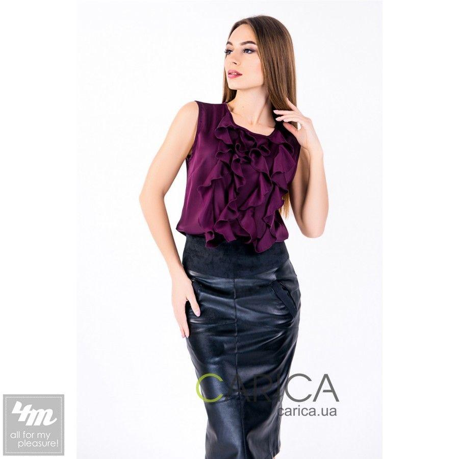 Блузка Carica «BK-7248»  Женственная блузка без рукавов, выполненная из шелка…