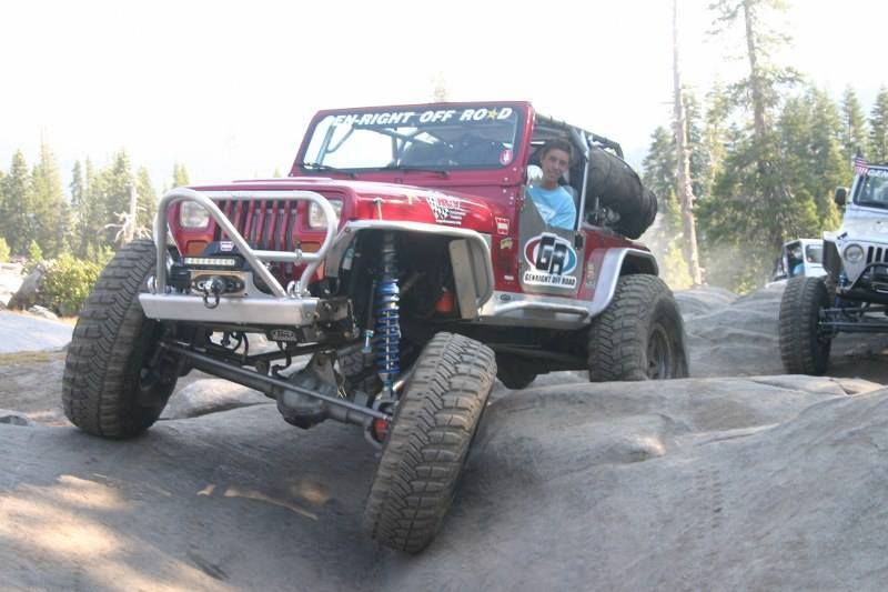 The Genright Jeep Yj Tackling The Rubicon Trail During The 61st Jeeper S Jamboree Genright Jeep Jeepyj Yj