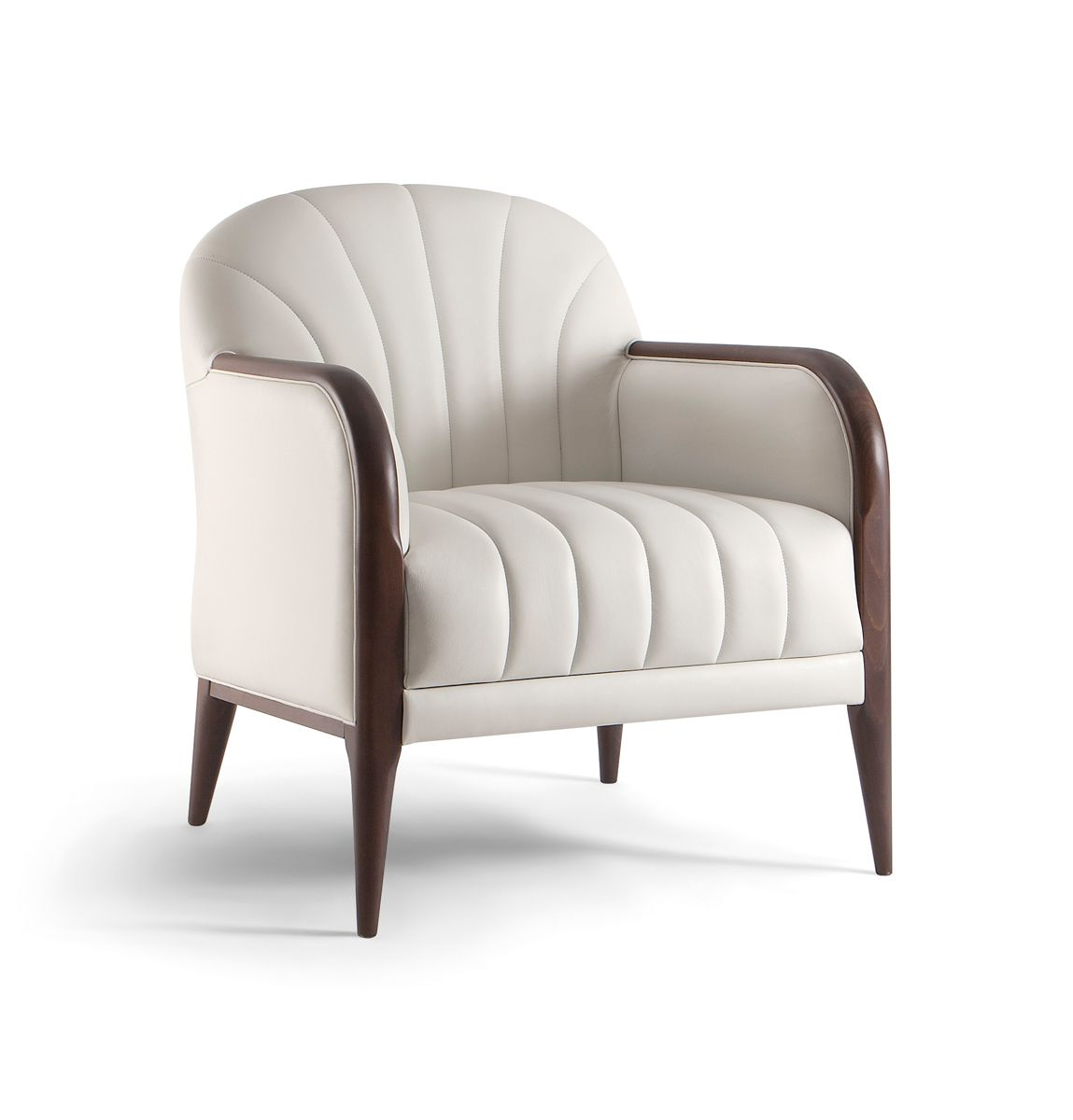 Parigi 038 P Armchair With Solid Timber Frame