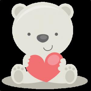 Valentine Polar Bear SVG file for scrapbooking cardmaking ...
