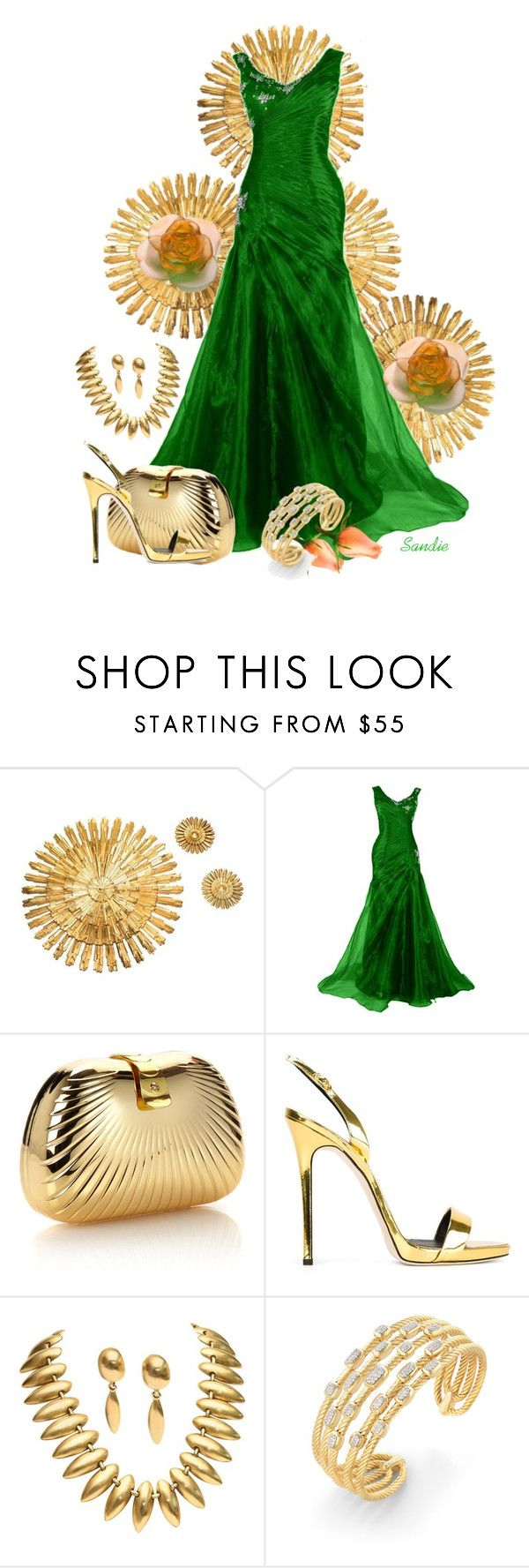 """""""~~ ALL THAT GLITTERS IS GOLD ~~"""" by queenofthegypsies ❤ liked on Polyvore featuring Monsoon, Giuseppe Zanotti, David Yurman and Daum"""