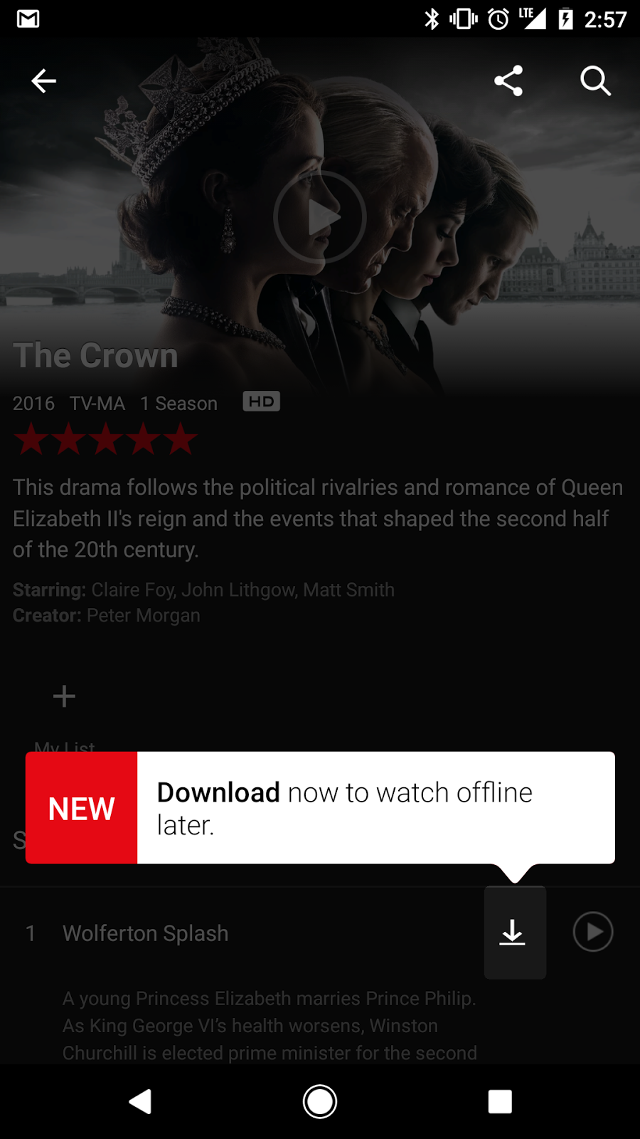 Netflix enables downloading of shows and movies to watch offline on iOS and Android