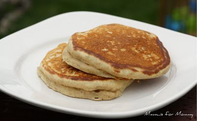 Peanut Butter Pancakes for The Kids Cook Monday - Mmm...is for Mommy