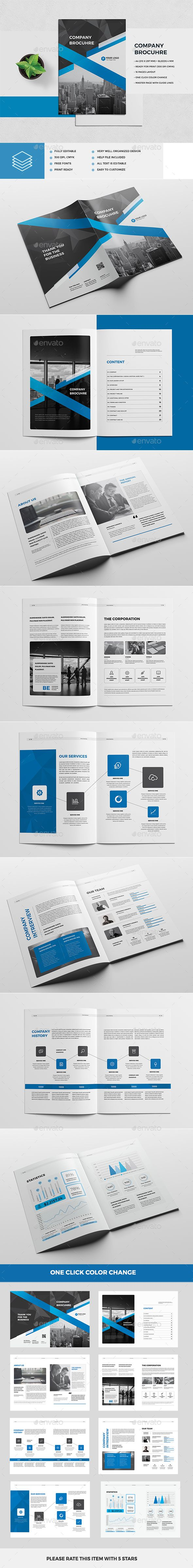 Company Brochure — InDesign INDD #a4 #catalogue • Download ➝ https ...