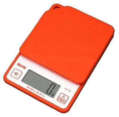 Japan TANITA Digital Kitchen Scales KD187 Orange Big LCD 1Kgs Cooking Scale