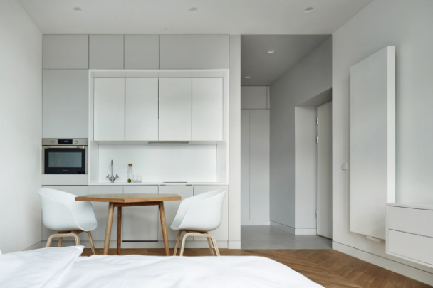 Pin By Pauline Wever On Apartments Minimalist Studio Apartment