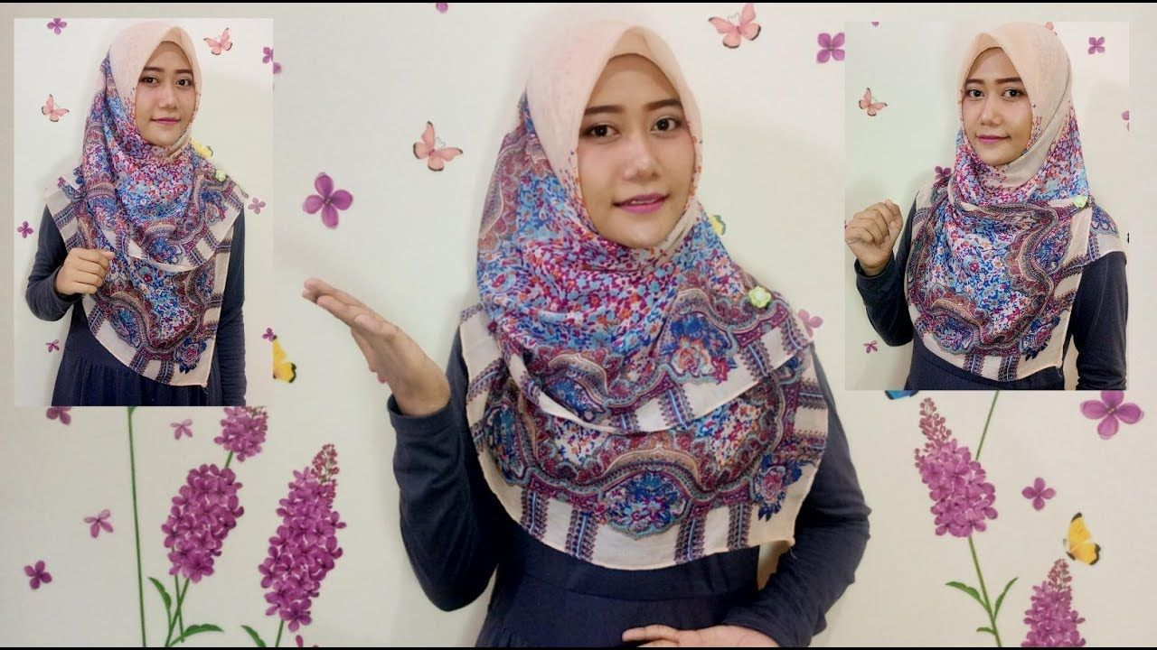 Tutorial Hijab Segi Empat Yang Menutup Dada Gaya Hijab Pesta Hijab