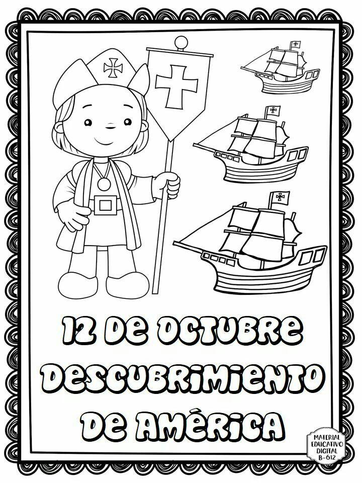 12 De Octubre Cristobal Colon Para Ninos Carabelas De Cristobal Colon Actividades Para Ninos Preescolar
