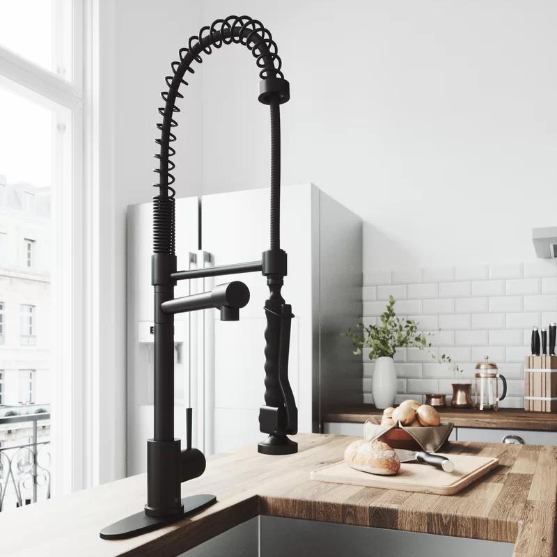 Zurich Pull Down Single Handle Kitchen Faucet In 2020 Matte Black Kitchen Faucet Black Kitchen Faucets Matte Black Kitchen