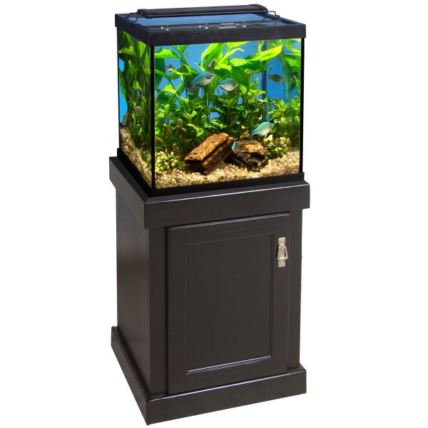 Marineland 27 gallon cube aquarium ensemble aquariums for Petsmart fish tank stand