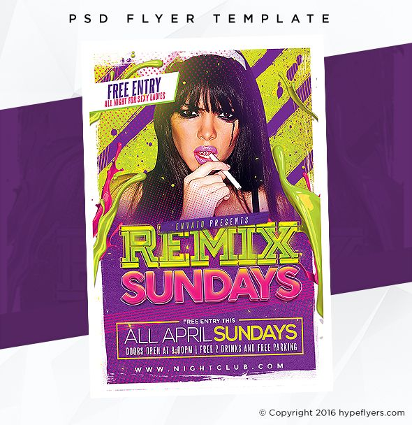 Remix Sundays Party Flyer Party Flyer Event Template And Psd