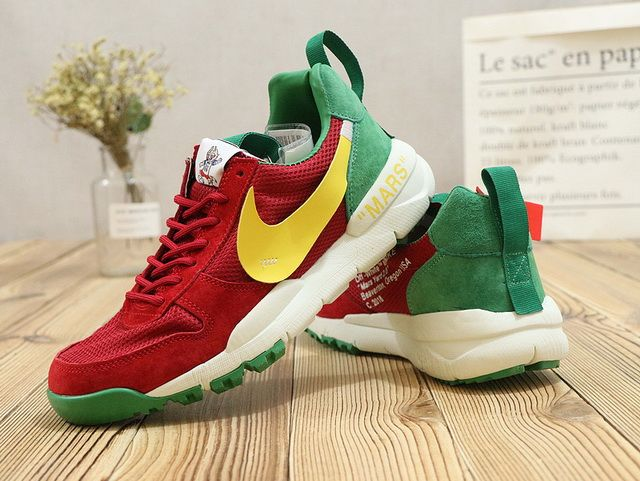 1c91b0b88614 Newest Men OFF White x Nike Mars Yard 2018 Russia World Cup Rogue Red  Cadmium Green Yellow White