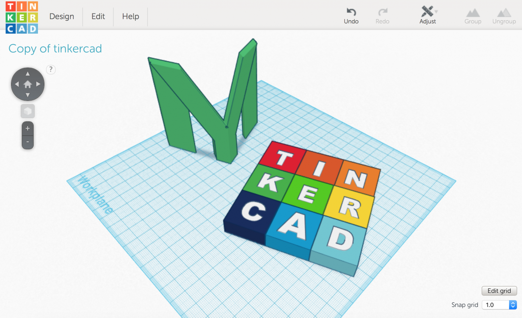 3d models of myminifactory and tinkercad logos in tinkercads build area mmf 3d logo by michael daniel miller and tinkercad by dikraa12