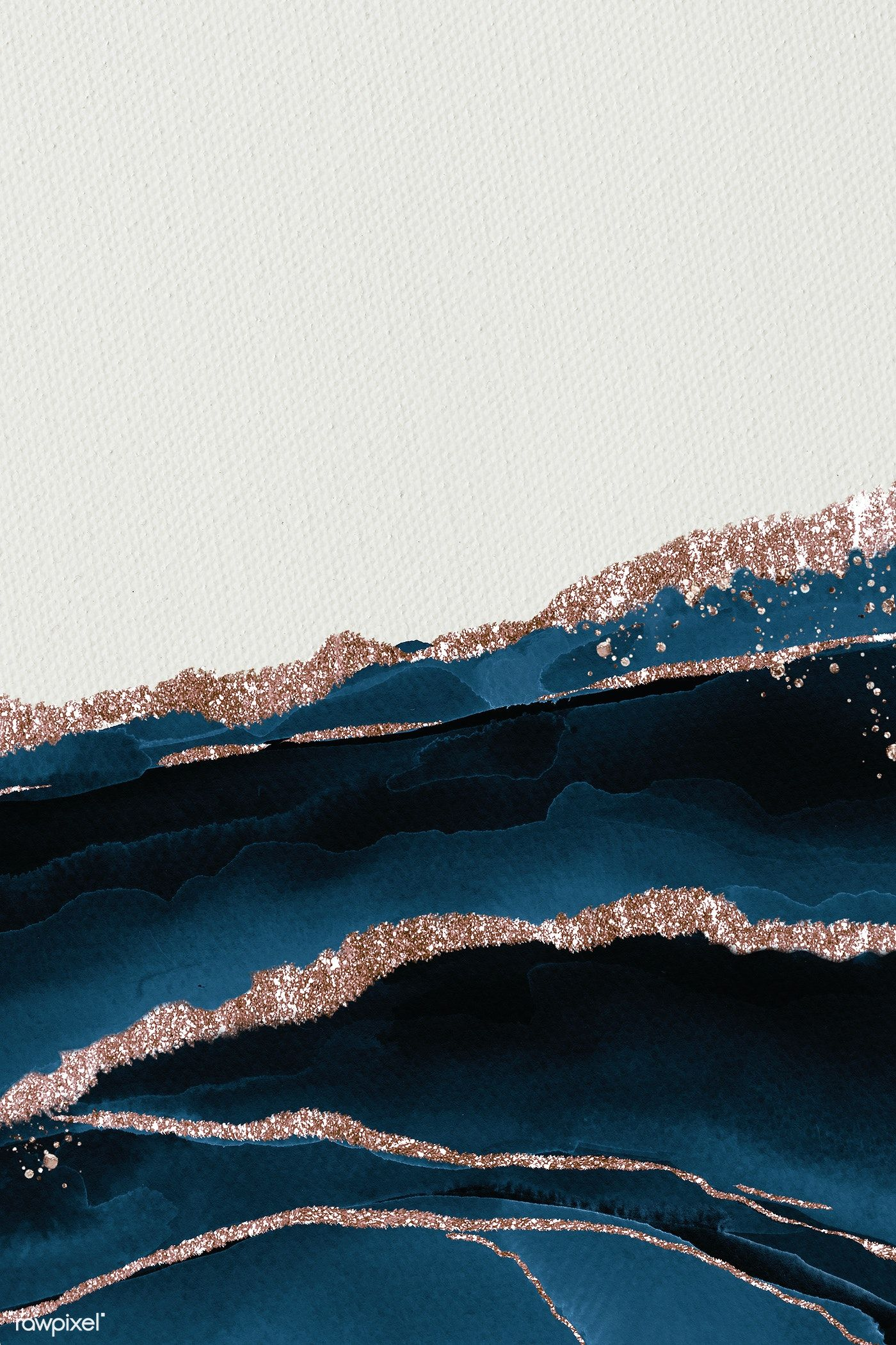 Download premium illustration of Shimmering dark blue on white paper