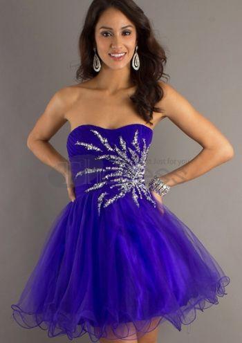 Short Purple Graduation Dresses