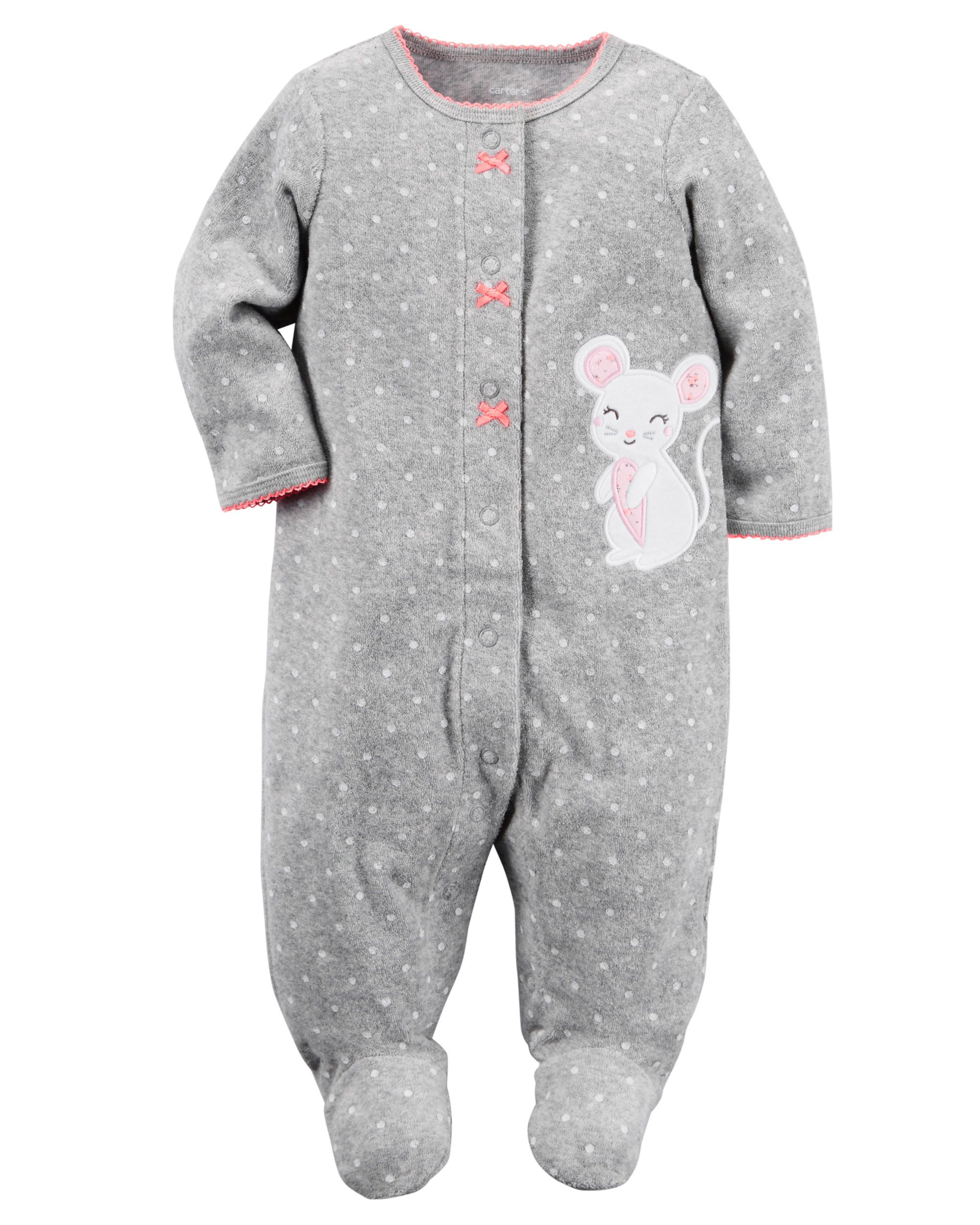 Baby Girl Terry Snap-Up Sleep   Play from Carters.com. Shop clothing    accessories from a trusted name in kids 2778fdba4
