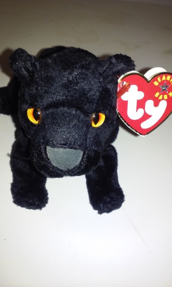 RAREST BABY BLACK PANTHER BEANIE BABY. PLACE A BID HERE ON EBAY Rare TY  Beanie Bear Midnight the Black Panther Most wanted Beanie! Retired!  Ty cf7c33cf314