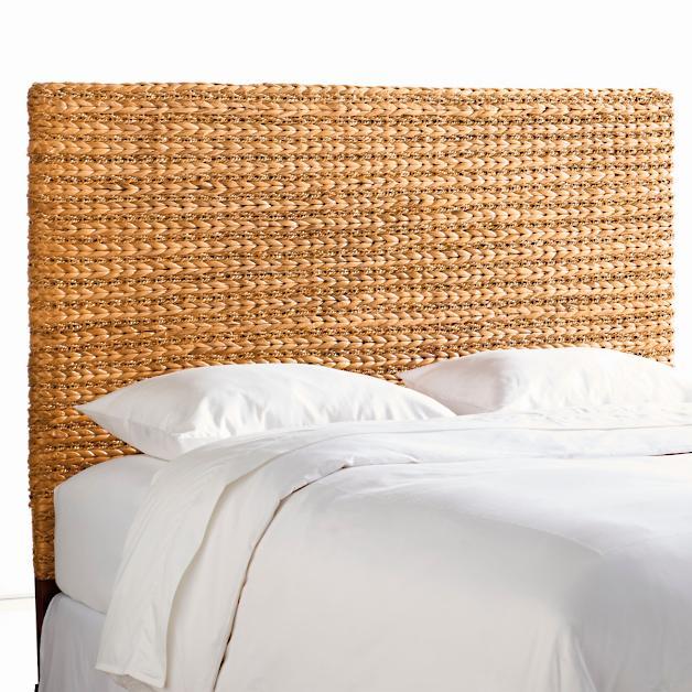 Braided Seagrass Headboard Seagrass Headboard Coastal Bedrooms