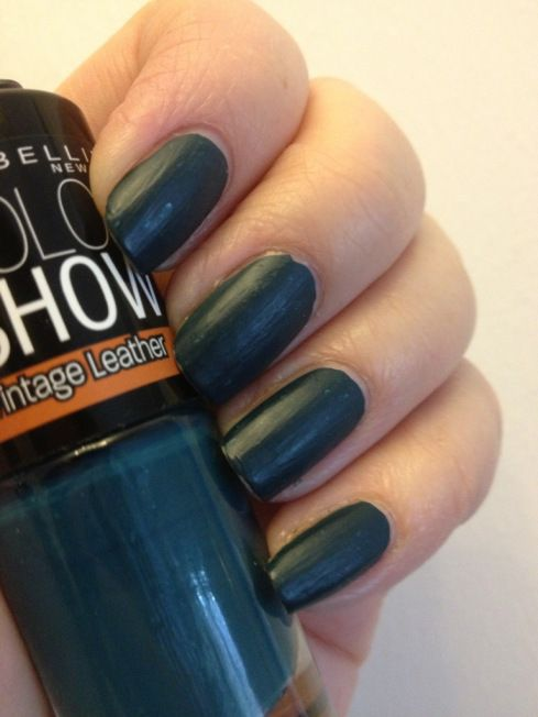 maybelline color show vintage leather turquoise temptation