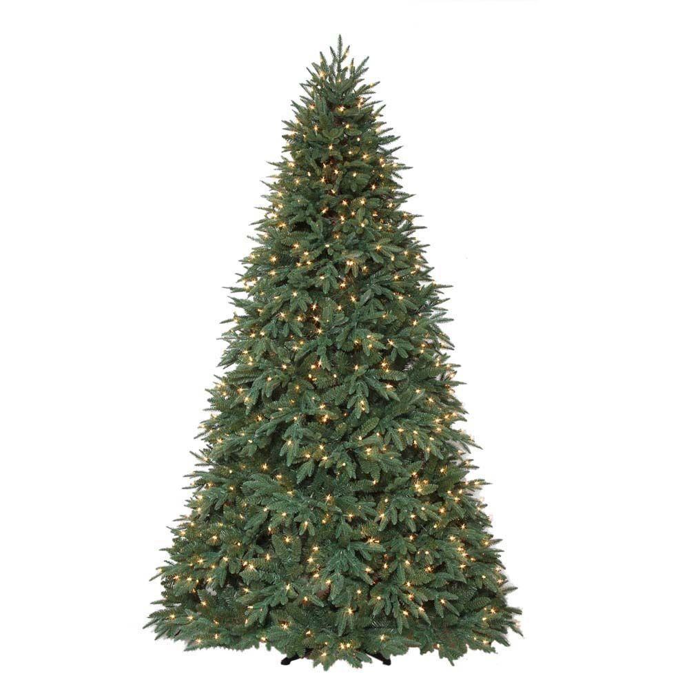 7 5 Ft Pre Lit Richmond Fir Quick Set Artificial Christmas Tree With Surebright Clear Light Christmas Tree Artificial Christmas Tree Christmas Tree Home Depot