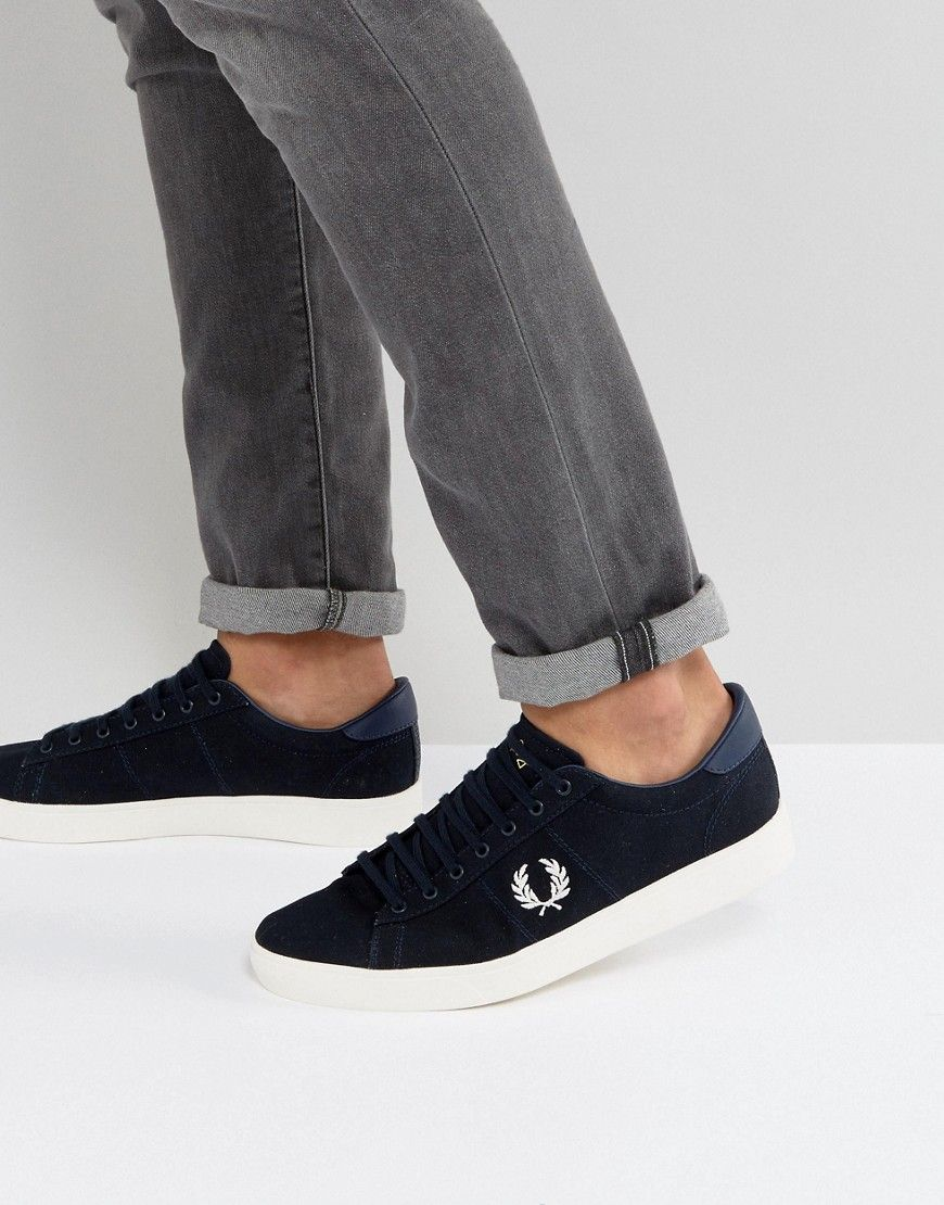 808f68b7f4 Fred Perry Spencer Canvas Sneakers in Navy | Products