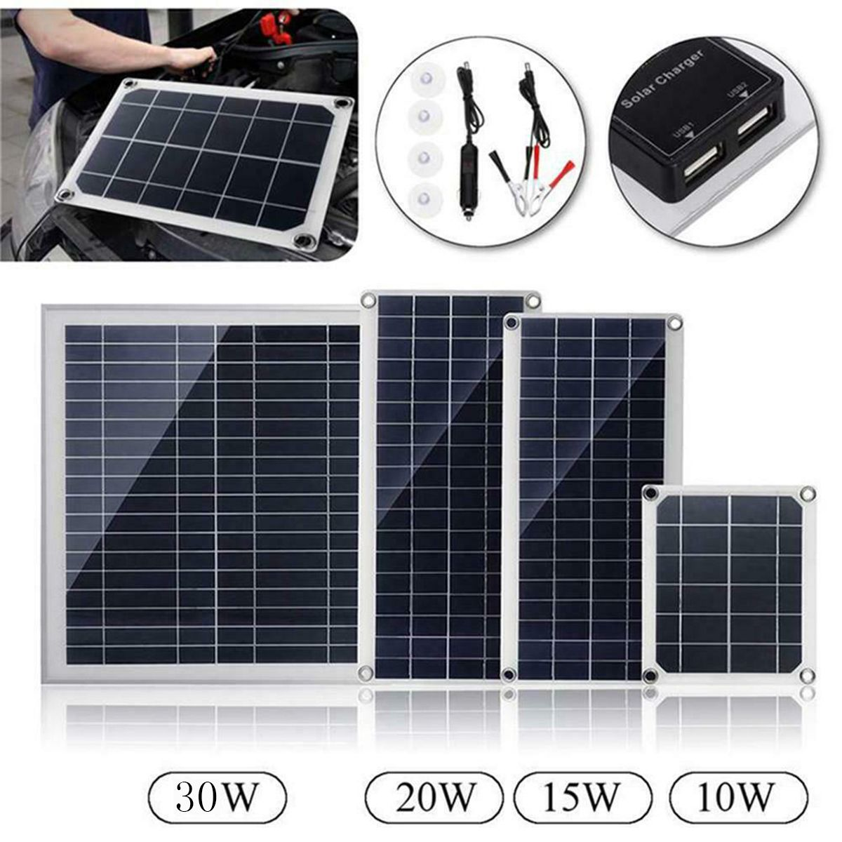 10w 15w 20w 30w 18v Dc Flexible Polycrystalline Solar Panel With Usb Connect Module Board From Electronic Components Supplies On Banggood Com Flexible Solar Panels Solar Charger Solar Panels