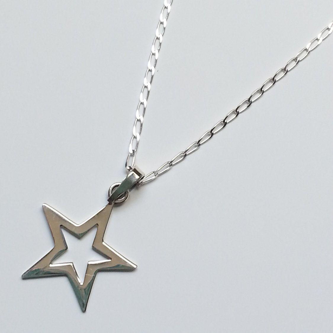 Collar Estrella de Plata COP005 by AnaGorozpe on Etsy