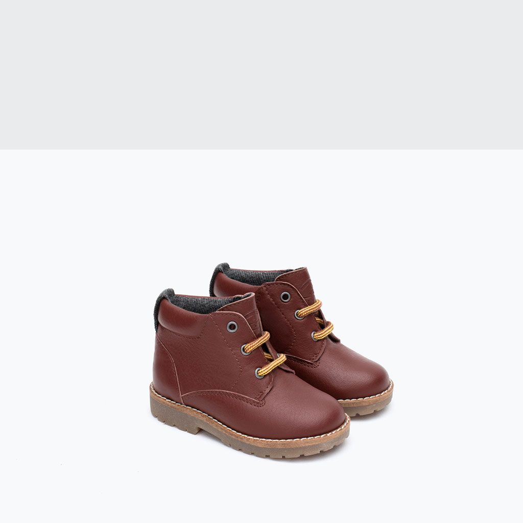 LINED LEATHER BOOTS-Shoes-Baby boy-Baby | 3 months - 3 ...