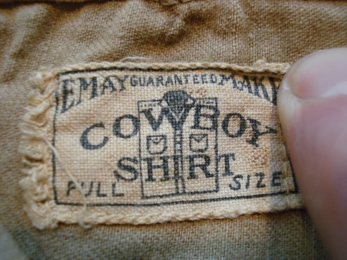 Cowboy Shirt Vintage Clothing Label With Images T Shirt Label Woven Labels