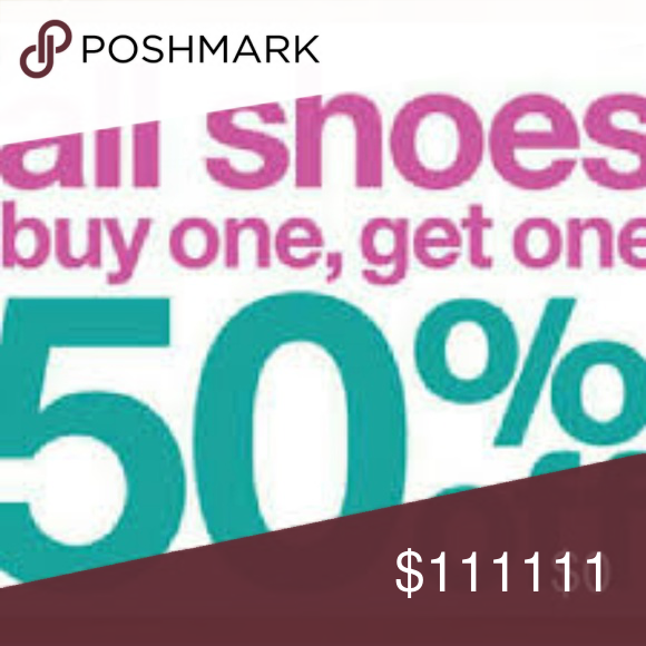 Buy one get one 50% off Shoes Sale