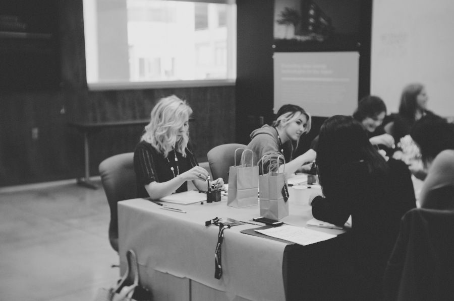 bedsidesign modern calligraphy workshop at create upstate 2015
