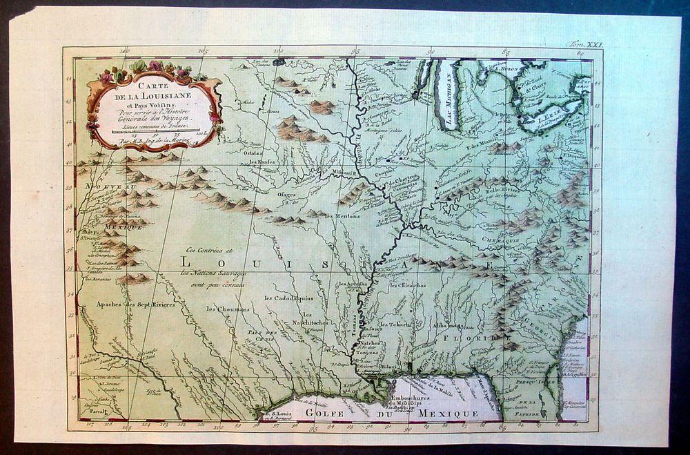 Louisiana Map Alexandria%0A Louisiana Map America Bellin Antique Map Louisiana Great Lakes Colonial  United States of America