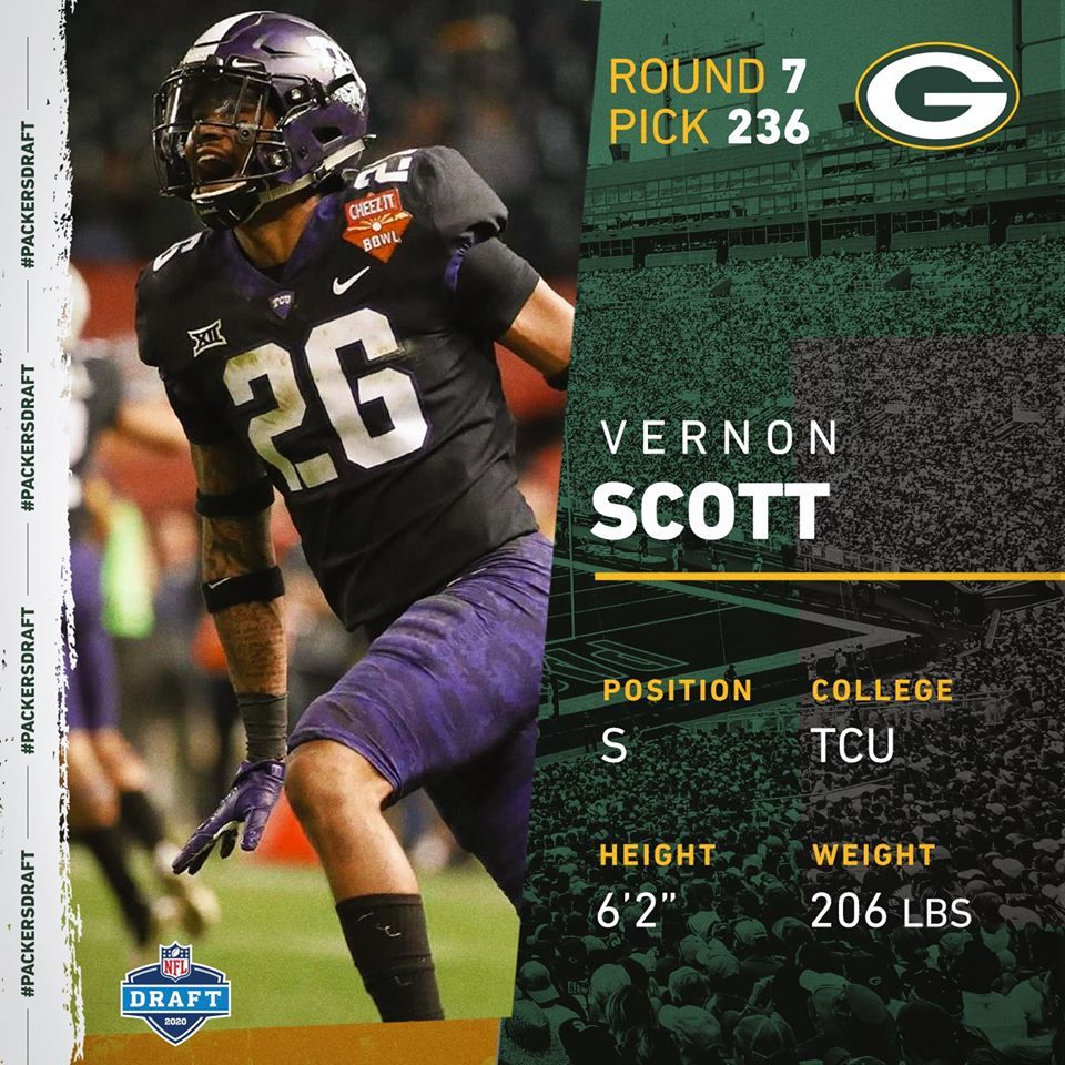S Vernon Scott In 2020 Nfl Draft Tcu Vernon