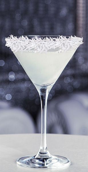 Snowball Martini: Shredded Coconut, 1 Oz Whipped Cream Vodka, 1½ Oz Coconut  Rum Great Ideas