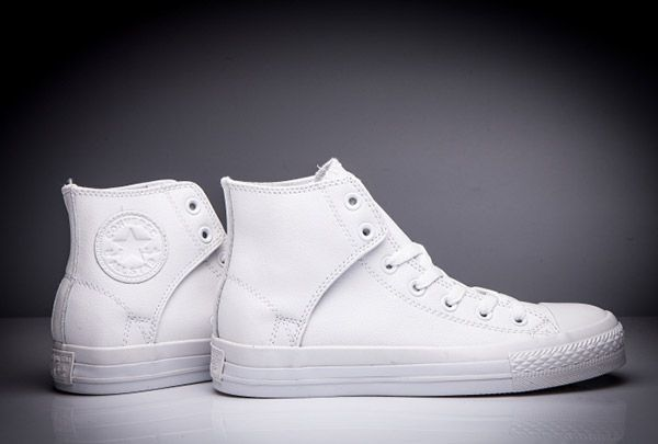 fd01efce0349 Converse All Star Leather Side Velcro High Tops White  converse  shoes