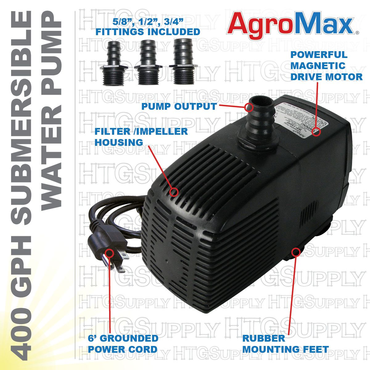 400 Gph Submersible Pump Submersible Pump Submersible Hydroponics System