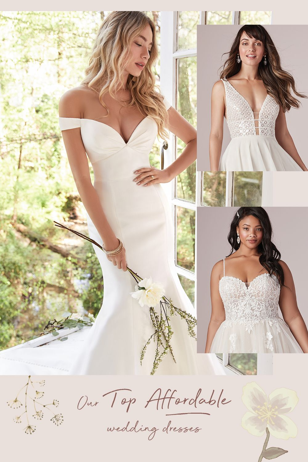 Our Top Affordable Wedding Gowns By Rebecca Ingram In 2020 Wedding Dresses Affordable Wedding Dresses Affordable Wedding Gown