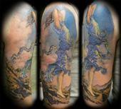 Maxfield Parrish tattoo