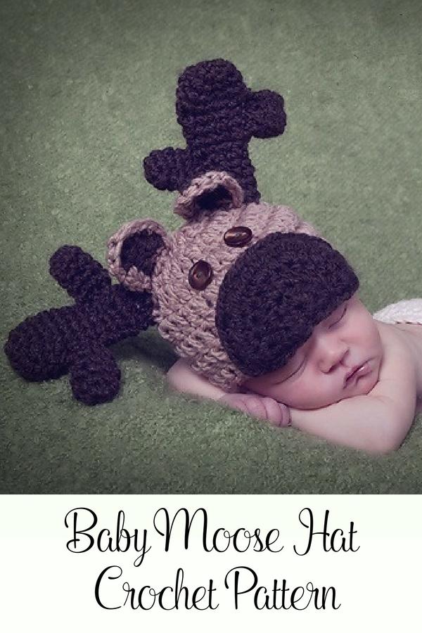 Crochet PATTERN - Crochet Reindeer Hat - Crochet Hat Pattern ...