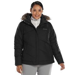 3a1c32b7a4c Plus Size Columbia Snow Eclipse Hooded Puffer Jacket
