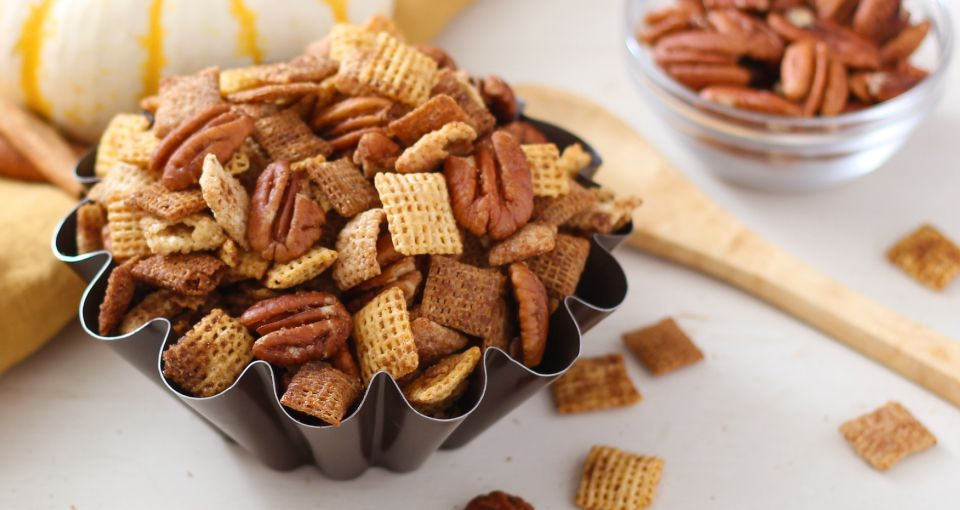 Pumpkin spice chex mix recipe cereal brown sugar and butter ccuart Image collections