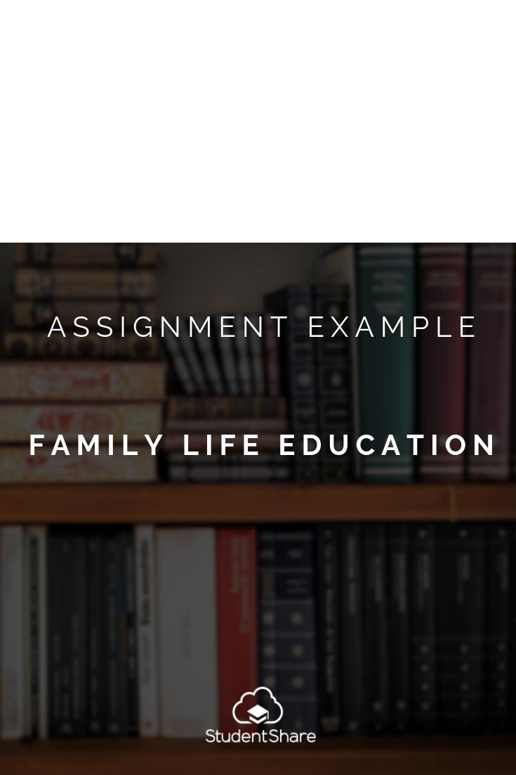 family life essay