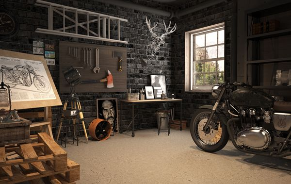 Vintage Motorcycle Garage Design Garage Decor Vintage