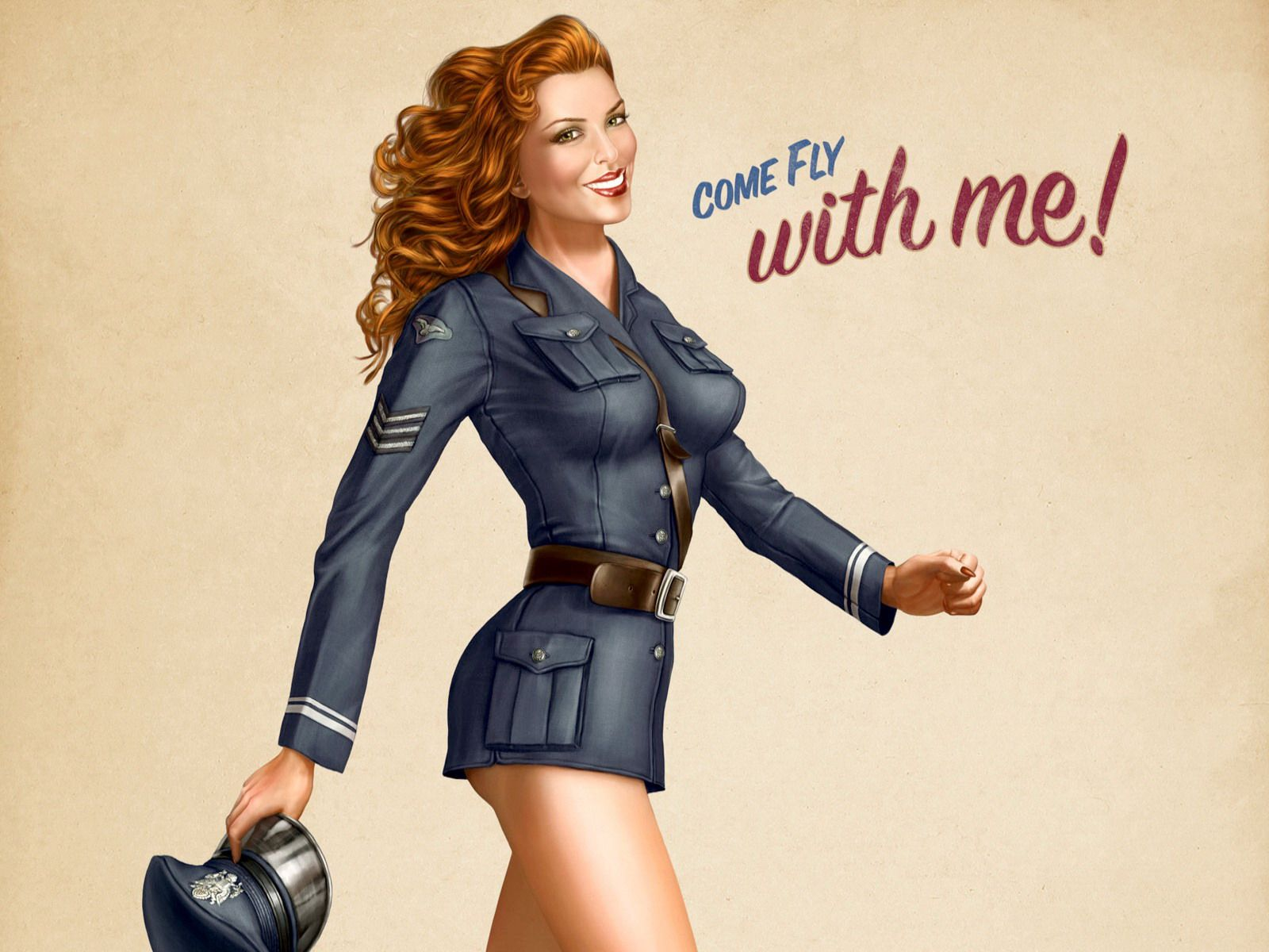 Pin By Mark On Hd Wallpapers: ... Air Force Pinup Girl Hd Wallpaper