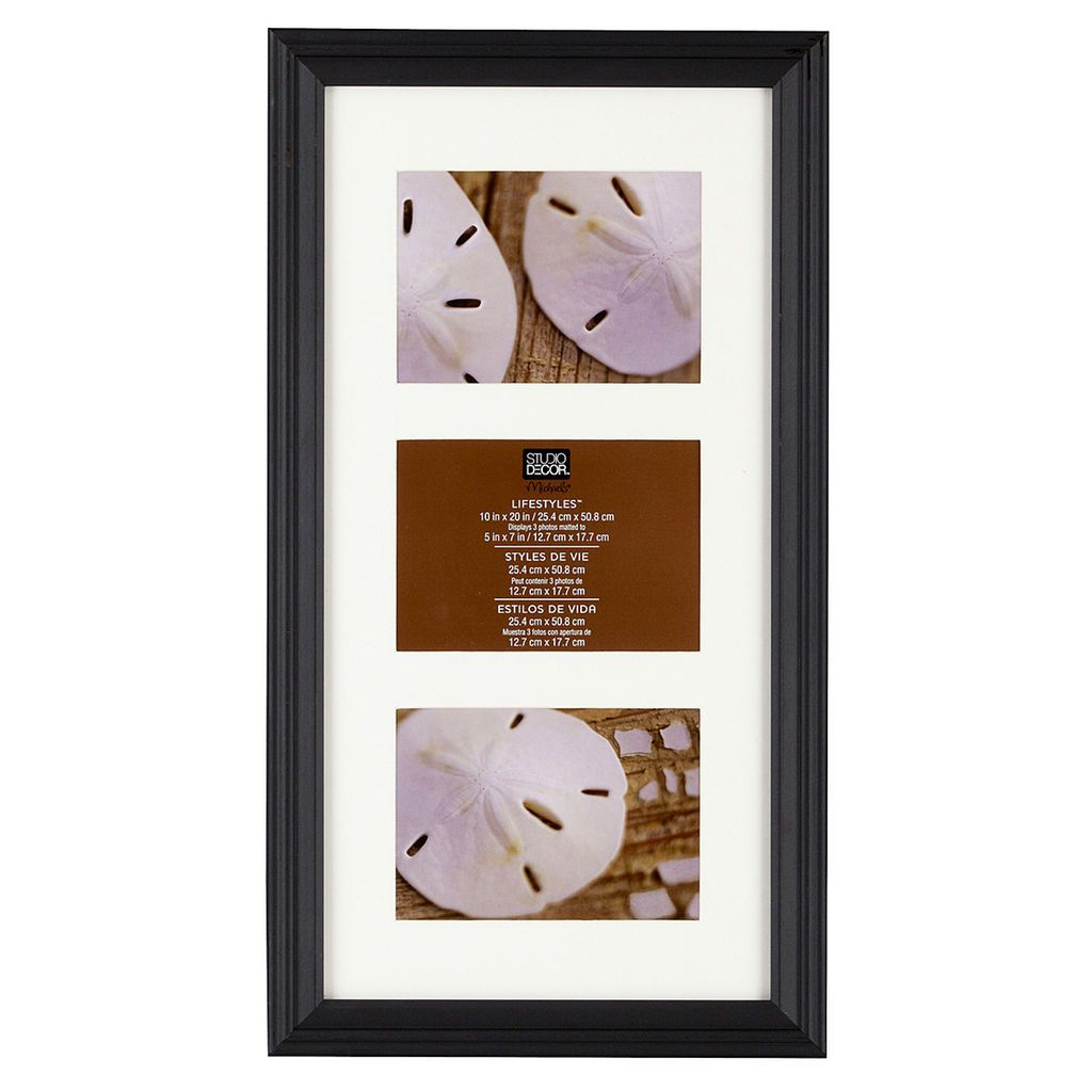 Black 3 Opening Collage Frame 5 X 7 Lifestyles By Studio Decor Michaels Collage Frames Collage Picture Frames Frame