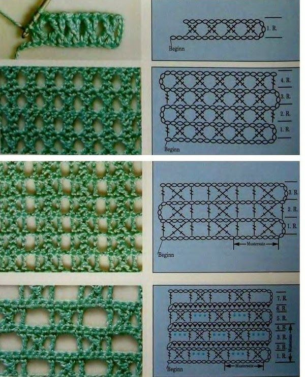 Puntos cruzado de crochet | Handarbeit | Pinterest | Cruzado, Puntos ...
