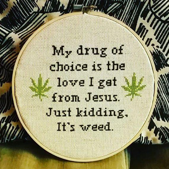 Cross Stitch Pattern 'My drug of choice by CraftsByNicholeIvie